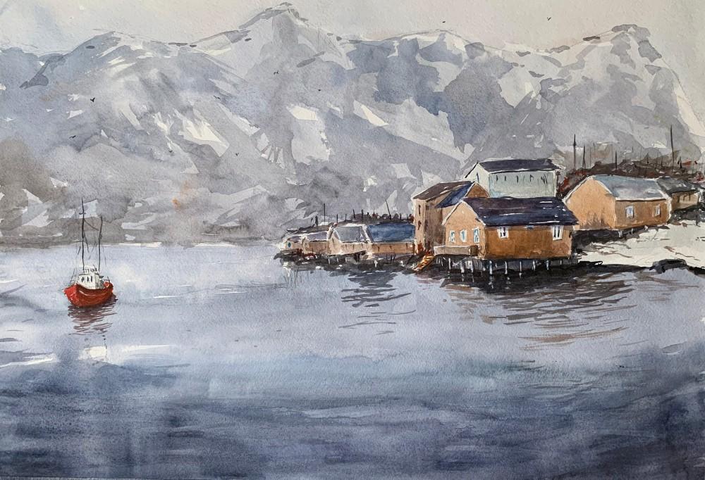 Художник Александр Патраков - Норвегия - Акварель, бумага 300 гр, 59 x 41