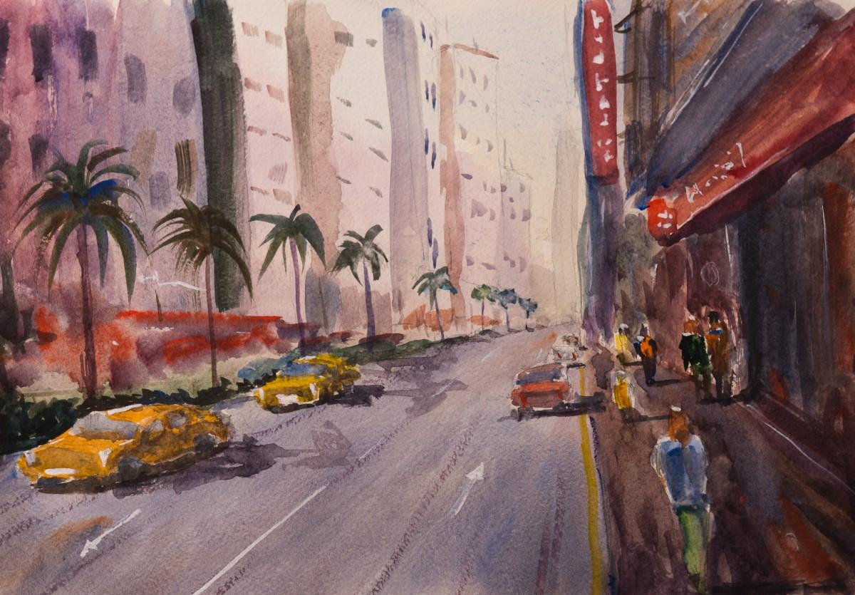 Художник Александр Патраков - Прогулка по Гонконгу - Акварель, бумага 300 гр, 40 x 30