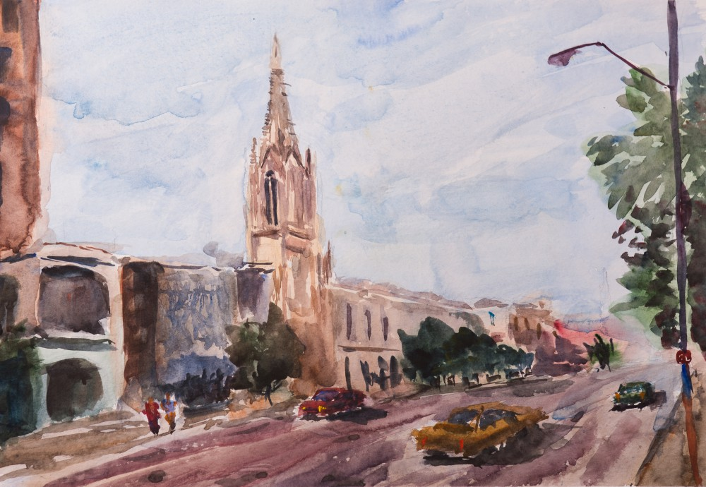 Художник Александр Патраков - Гавана - Акварель, бумага 300 гр, 50 x 35