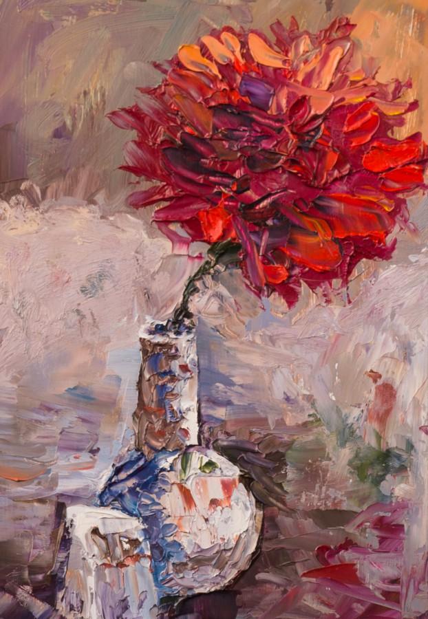 Художник Александр Патраков - Цветок Кубы - Масло, картон, 15 x 21
